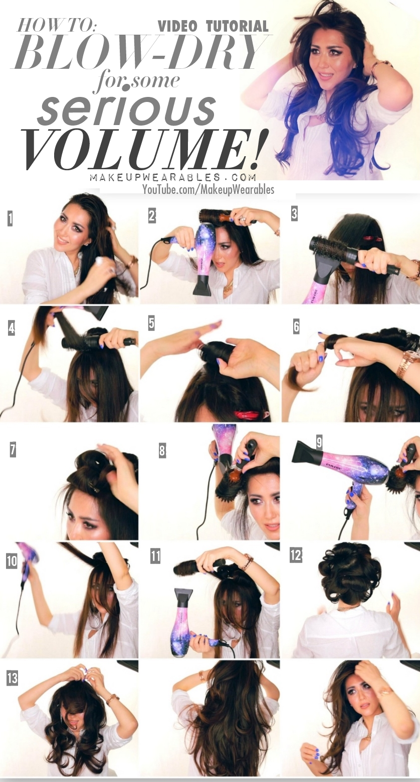 How-to-blow-dry-your-hair-for-volume-Kim-Kardashian-voluminous-salon-blow-out-hairstyle