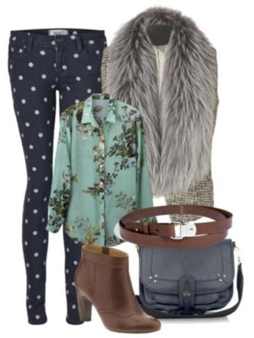 clskvw-l-610x610-blouse-boots-bag-bloggers-floral-miny-fur-jacket-jeans-celebrities-boho-smart-polka-dots
