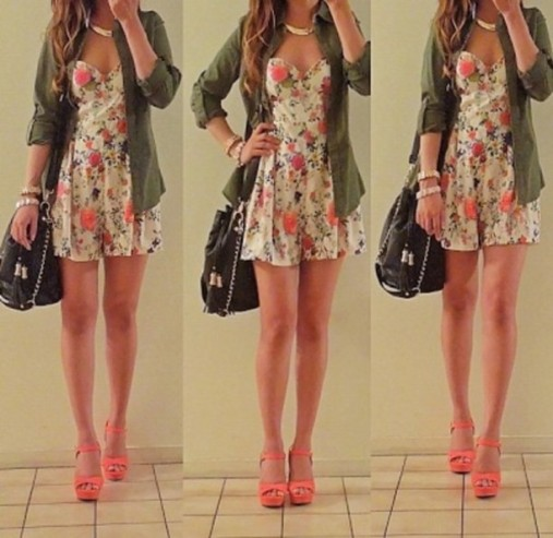 m7dbvh-l-610x610-dress-cute-coral-floral-print-girl-tumblr-girl-curls-military-green-kelly-adorable-girley